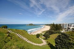 Summit track of Mount Maunganui Stock Images