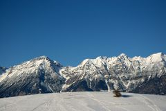 Summit tyrolean alps Stock Photo