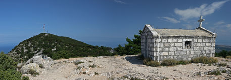 Summit view from  Sv Nikola hill on Losinj island , Croatia Royalty Free Stock Images
