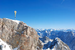 Summit view. Of the Zugspitze, germany´s highest mountain Royalty Free Stock Photos