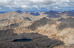 Summit view from Mount Columbia, Sawatch Range, Colorado, USA Royalty Free Stock Photography