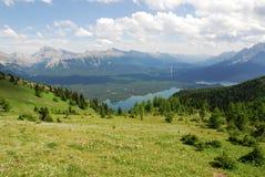 Summit view on mountain top Stock Photo