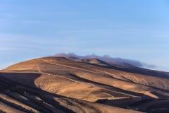 Summit of volcano in Timanfaya Stock Photo