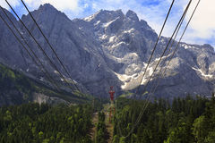 Summit of Zugspitze Mountain, Germany. Stock Photography
