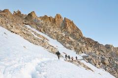 Summiting惠特尼山脉 免版税库存图片