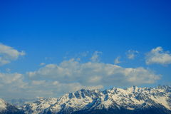 Summits and blue sky. Summits in the french alps under a beautiful blue sky Stock Image