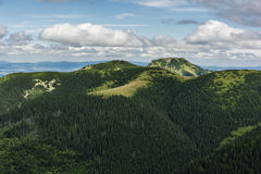 Summits (Bobrowiec,  Bobrovec and Grzes, Lucna) in summer coat Stock Photography