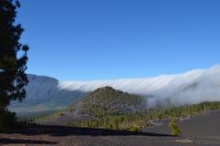 The summits of La Palma. Sea of clouds on the island of La Palma Stock Photo