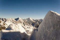 Summits: Mieguszowiecki Szczyt Czarny, Rysy, Wysoka (Vysoka) and other Royalty Free Stock Photo