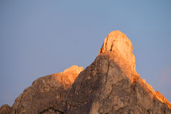 Summits of Monte Pelmo Stock Photography