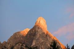 Summits of Monte Pelmo Royalty Free Stock Photo