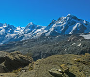 Summits of the Pennine Alps. Near Zermatt, Valais, Switzerland Stock Photo