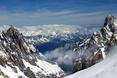 Summits in the Valle d`Aosta stock photography