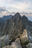Summits view before sunrise Stock Photography
