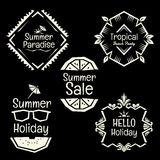 Summmer holiday vector banner doodle style frame collection Stock Images