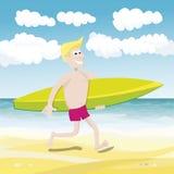 Summmer surfer Royalty Free Stock Photos
