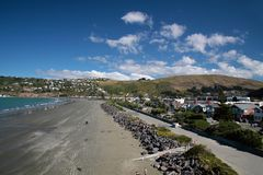 Sumner Beach nära Christchurch Royaltyfria Foton