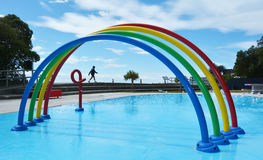 Sumner paddle basen Christchurch, Nowa Zelandia - Obraz Royalty Free