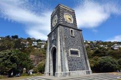 Sumner Scarborough Clock Tower Christchurch - Nya Zeeland Arkivbilder