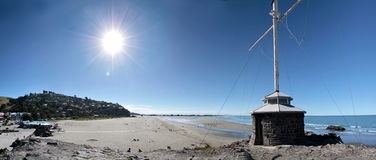 Sumner Strand nahe Christchurch Stockfotografie