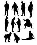 Sumo Activity and Action Silhouettes. Art vector design Stock Photo