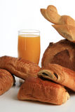 Sumo de laranja, bom pequeno almoço Fotos de Stock Royalty Free