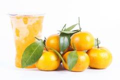 Sumo de laranja congelado Foto de Stock