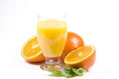 Sumo de laranja de Frsh Fotografia de Stock Royalty Free