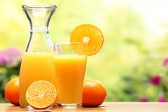 Sumo de laranja e frutas Foto de Stock Royalty Free