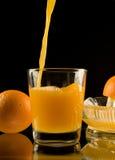 Sumo de laranja espremido fresco Foto de Stock Royalty Free