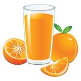 Sumo de laranja fresco Fotografia de Stock