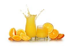 Sumo de laranja fresco Fotos de Stock Royalty Free