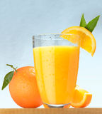 Sumo de laranja fresco Foto de Stock