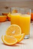 Sumo de laranja fresco Foto de Stock Royalty Free