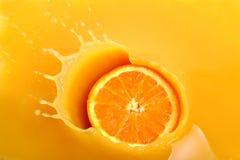 Sumo de laranja fresco Imagem de Stock Royalty Free