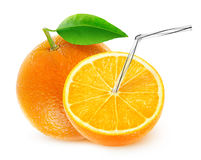 Sumo de laranja isolado Foto de Stock Royalty Free