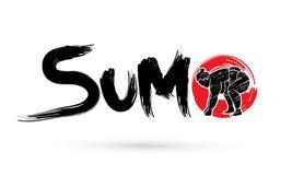 Sumo. Font Sumo designed using brush graphic vector Stock Image