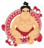 Sumo ikona i zapaśnik royalty ilustracja