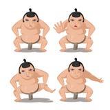 Sumo Japan Culture Cartoon Character Vector. Sumo Japan Culture Cartoon Character Stock Photography