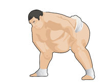Sumo japanese wresler. Image of japanese wrestler ready to fight Stock Photos