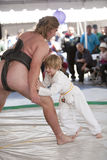 Sumo and Kid Royalty Free Stock Photo