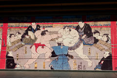 Sumo mural Royalty Free Stock Photography