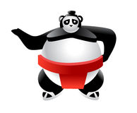 Sumo Panda Cartoon Illustration Royalty Free Stock Images