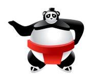 Sumo-Panda-Karikatur-Abbildung Lizenzfreie Stockbilder