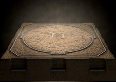 Sumo Ring Empty Fotografering för Bildbyråer