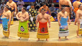 Sumo tournament in Nagoya stock photography