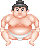 Sumo wrestler cartoon Royalty Free Stock Photos