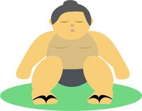 Sumo Wrestler with Chi Energy Royalty Free Stock Images