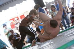 Sumo Wrestler and Child Royalty Free Stock Photography