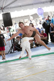 Sumo Wrestler and Child Stock Image